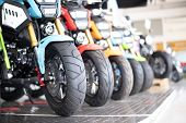 Motorcycle Business, Background, Motorcycle Showroom, Blurry Abstract, Blurred Background And Can Be poster
