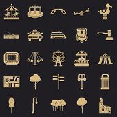 Urban Recreation Park Icons Set. Simple Set Of 25 Urban Recreation Park Vector Icons For Web For Any poster