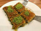 Turkish Dessert Kadayif With Pistachio Powder (traditional Dessert With Powdered Pistachio) poster