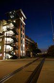 pic of ybor city  - Parking Garage at Dusk Ybor City Tampa Florida - JPG