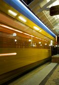 picture of ybor city  - Trolley passing by a sation in Ybor City Tampa Florida UISA - JPG