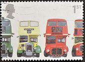 UNITED KINGDOM - CIRCA 2001: A stamp printed in Great Britain shows AEC Regent III RT Type Bristol K
