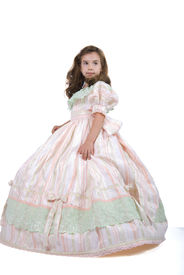 stock photo of toddlers tiaras  - Cute Little Princess in Light Pink Dress - JPG