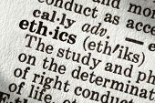 pic of ethics  - Dictionary definition of the word  - JPG
