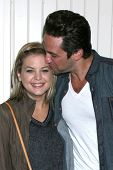 LOS ANGELES - JUL 25:  Kirsten Storms, Brandon Barash arrives at the General Hospital Fan Club Kicko