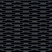stock photo of wavy  - Black seamless texture - JPG