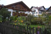 House In Oberammergau And Garden