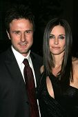 LOS ANGELES - DECEMBER 09: David Arquette and Courteney Cox at the premiere of the FX original drama