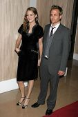 Jacinda Barrett and Gabriel Macht at the Friends of the Los Angles Free Clinic Annual Dinner Gala. B