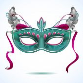 image of drama  - Red carnival mask with feathers  - JPG