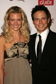 HOLLYWOOD - AUGUST 27: Kelly Limp and Scott Wolf at the TV Guide Emmy After Party at Social August 2