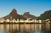picture of ipanema  - Beautiful view of Rio de Janeiro with the Lake and Mountains - JPG