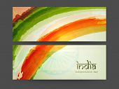 stock photo of indian independence day  - Website header or banner design for 15th of August - JPG