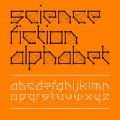 stock photo of fiction  - Science fiction alphabet - JPG