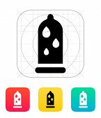 pic of condom  - Condom and Water lubrication icon - JPG