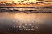 pic of bible verses  - Sunrise over the ocean with Psalms 27 - JPG