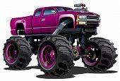 stock photo of bigfoot  - Cartoon Monster Truck - JPG