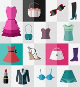 picture of lady boots  - Various types of clothes and accessories for women - JPG