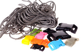 stock photo of paracord  - Paracord supplies - JPG