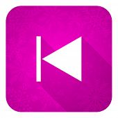 stock photo of christmas song  - previous violet flat icon - JPG