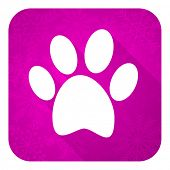 stock photo of flat-foot  - foot violet flat icon - JPG