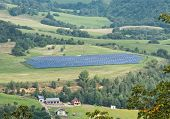 pic of land development  - Solar panels in a meadow - JPG