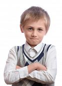 stock photo of hairline  - Blonde boy - JPG