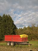Storage trailer for the crop poster