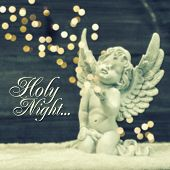 stock photo of guardian  - little guardian angel with shiny lights - JPG