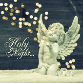 foto of little angel  - little guardian angel with shiny lights - JPG