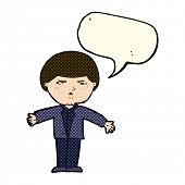 foto of annoying  - cartoon annoyed man with speech bubble - JPG