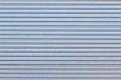 stock photo of roller shutter door  - blue Metal roller shutter door for background - JPG
