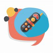 stock photo of toy phone  - Toy Phone Flat Icon With Long Shadow - JPG