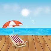 stock photo of dock  - Summer background - JPG