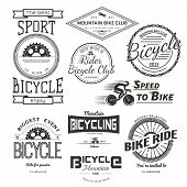 picture of bicycle gear  - Bicycle badges logos and labels for any use isolated on white background - JPG