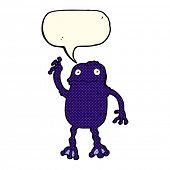 foto of poison frog frog  - cartoon poisonous frog with speech bubble - JPG