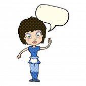 image of maids  - cartoon maid with speech bubble - JPG