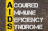 picture of immune  - Medical Acronym AIDS as Acquired Immune Deficiency Syndrome.