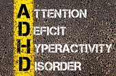 picture of attention  - Medical Acronym ADHD as ATTENTION DEFICIT HYPERACTIVITY DISORDER.