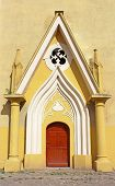 stock photo of exaltation  - Entrance to Roman Catholic Cathedral of the Exaltation of the Holy Cross  - JPG