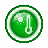 pic of fahrenheit thermometer  - Sun and thermometer icon - JPG