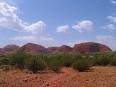 pic of uluru-kata tjuta national park  - kata tjuta also know as the olgas australia - JPG