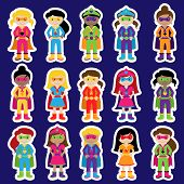 picture of superhero  - Collection of Diverse Group of Superhero Girls - JPG