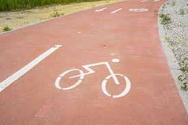 stock photo of segregation  - Segregated cycle facilities - JPG