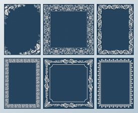 pic of scroll  - frames elegant set - JPG