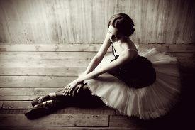picture of  dancer  - Professional ballet dancer resting after the performance - JPG