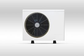 foto of coil  - Air conditioning fan coil out door unit with white background - JPG