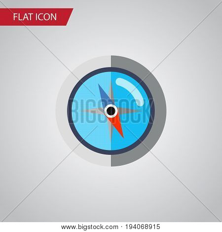 poster of Isolated Orientation Flat Icon. Geography Vector Element Can Be Used For Orientation, Geography, Compass Design Concept.