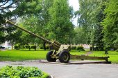 Gun Or Tank On The Street, Exhibit Exhibit, Military Object poster