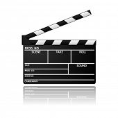 picture of clapper board  - Clapboard in vector design - JPG